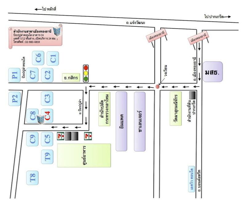 แผนที่เมืองทองอินน์